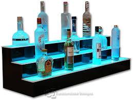 led lighted bar shelves 3 tier led lighted bar shelves medusa lounge atl pinterest led