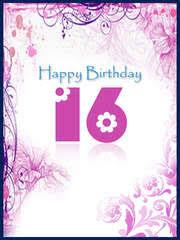 free printable birthday sweet 16 cards create and print free