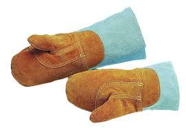 gant de cuisine anti chaleur paire de moufle de protection cuir traite anti chaleur 250 c