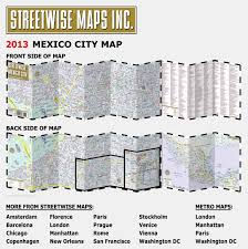 Map Mexico Streetwise Mexico City Map Laminated City Center Street Map Of