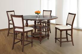 counter dining chairs fearington lazy susan cherry u0026 linen counter dining set my