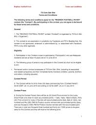 Terms And Conditions 5 Reginox Football Fever Terms And Conditions Ts Exim