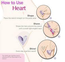 heart shaped in pubic hair pop bikini privates pubes shaving stencil sexy female pubic hair