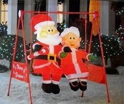 amazon com mr u0026 mrs claus porch swing animated christmas