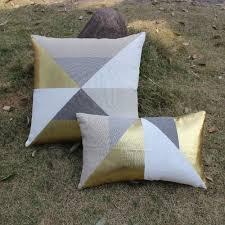vezo home 2pcs lot golden geometric linen sofa modern cushions