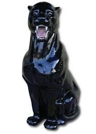 sunpro rakuten global market ceramic black panther figurine 76 cm
