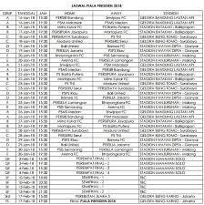 Jadwal Piala Presiden 2018 Jadwal Pertandingan Piala Presiden 2018 Derradio