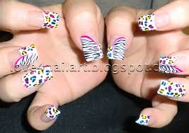 love4nailart step by step neon leopard zebra nail art