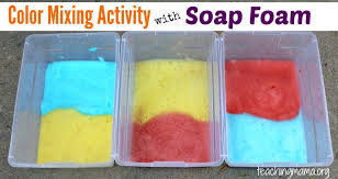 Mixing Activity With Soap Foam