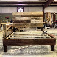 Rustic Wood Furniture Diy Diy Rustic Wooden Bed Frame Reclaimed Wood Furniture Solid Diy