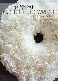 how to make a wreath make a coffee filter wreath for 5 diy beautify