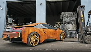 wrapped cars this rust wrapped bmw i8 will either please or disgust you