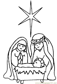 free printable coloring religious christmas coloring 10
