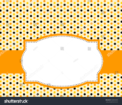 Cute Polka Dots Design Orange Black Stock Illustration 326801879