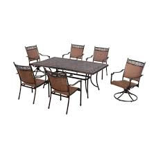niles park 7 piece sling patio dining set minnesota home outlet