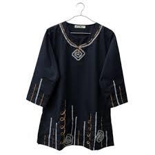 blouse wanita kawung baju wanita blouse wanita tunik wanita baju muslim bj 001