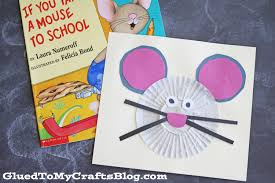 cupcake liner mouse kid craft glued to my crafts