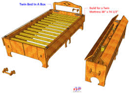 Foldable Twin Bed Twin Folding Bed Formerly Bed In A Box 3d Woodworking Plans