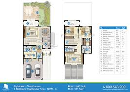 2 Bhk House Plan Floor Plans Of Al Ghadeer