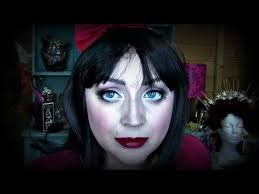 easy snow white halloween makeup tutorial for kids and adults part