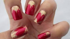 valentine u0027s day waterfall hearts nail art tutorial youtube