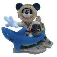 aquarium disney ornament diving mickey mouse shark treasure 960