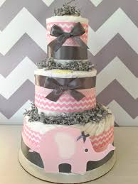 halloween diaper cake chevron elephant diaper cake in pink and grey elephant baby