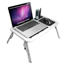 Hp Laptop Help Desk Birugear Durable White Plastic Foldable Laptop Tray With Cooler