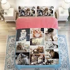 3d oil cute cats bedding duvet 3 4pc duvet cover without filler