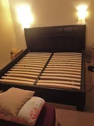 Milan Bed Frame Lewis Milan Bed Frame King Size Chocolate Brown Faux
