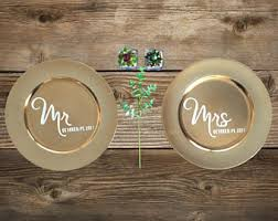 painted wedding plates personalized wedding plate etsy