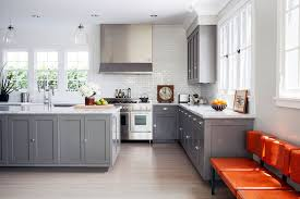 Shaker Kitchen Cabinets Gray Shaker Kitchen Cabinets Contemporary Kitchen Lonny Magazine