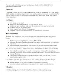 Quality Assurance Resume Templates Quality Control Resume Samples Unforgettable Quality Assurance