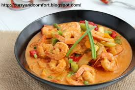 Thai Red Pumpkin Curry Recipe by Kitchen Simmer Thai Red Curry Shrimp