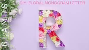diy room decor floral monogram letter easy diy tutorial wall