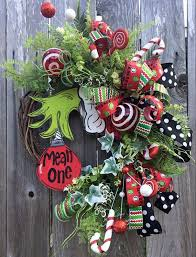 the grinch christmas decorations the grinch christmas wreath by wreathsbyashrenee on etsy https
