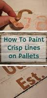 Wedding Guest Board From Pallet Wood Pallet Ideas 1001 by How To Paint Crisp Lines When Stenciling Pallets Pallets Pallet