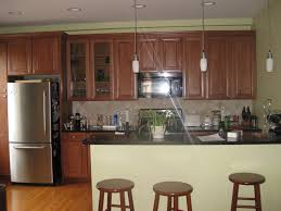 Kitchen With Brown Cabinets Green Kitchen Walls Home Decor Gallery