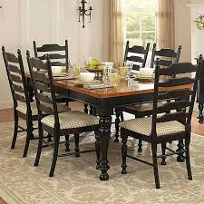 dining table mackenzie country style two tone dining chairs set