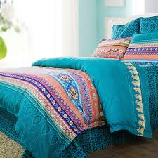 Coral And Teal Bedding Sets Teal Green Purple And Coral Bohemian Indian Tribal Stripe