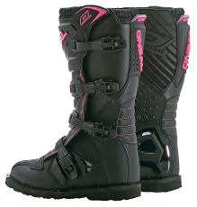 motorcycle boots uk cheep o u0027neal rider girls black pink motocross boots black uk