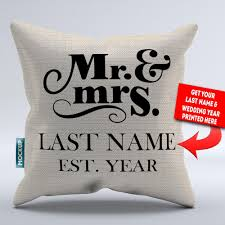 mr and mrs pillows personalized mr and mrs throw pillow cover 18 x 18 mostly