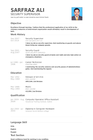 fancy security supervisor resume 3 security officer resume