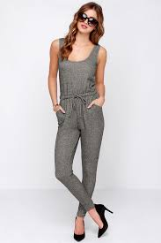 gray jumpsuit chic grey jumpsuit terry knit jumpsuit sleeveless jumpsuit