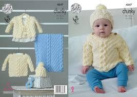knitting pattern baby sweater chunky yarn chunky knitting pattern king cole baby cable sweater cardigan hat