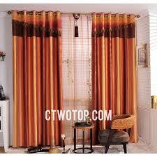 Contemporary Orange Curtains Designs Striped Contemporary Window Chintz Burnt Orange Curtains