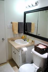 How To Hang A Bathroom Mirror by Dress Up Your Builder Basic Mirror U2026 Renter Style