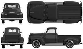 Vintage Ford Truck Apparel - chevrolet pick up 1951 png 1621 969 car blueprint pinterest