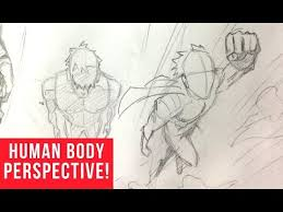 how to draw characters in perspective bird u0027s eye view youtube