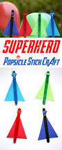 keep cool u0026 have fun with this superhero popsicle stick craft for